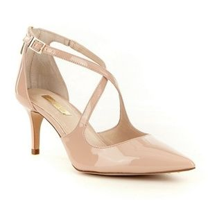 Louise & Cie Patent Leather Strap Pointed-Toe Heel